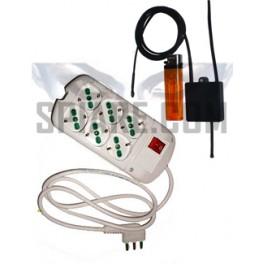 Microspia GSM nascosta in ciabatta multipresa funzionante con attivazione vocale